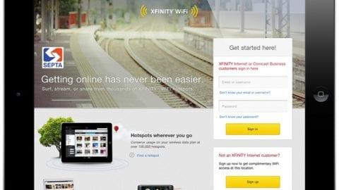 Xfinity WiFi Hotspots Open for SEPTA Rail Commuters