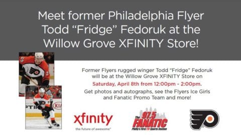 April 8: Former Flyer Todd Fedoruk at Willow Grove Xfinity Store