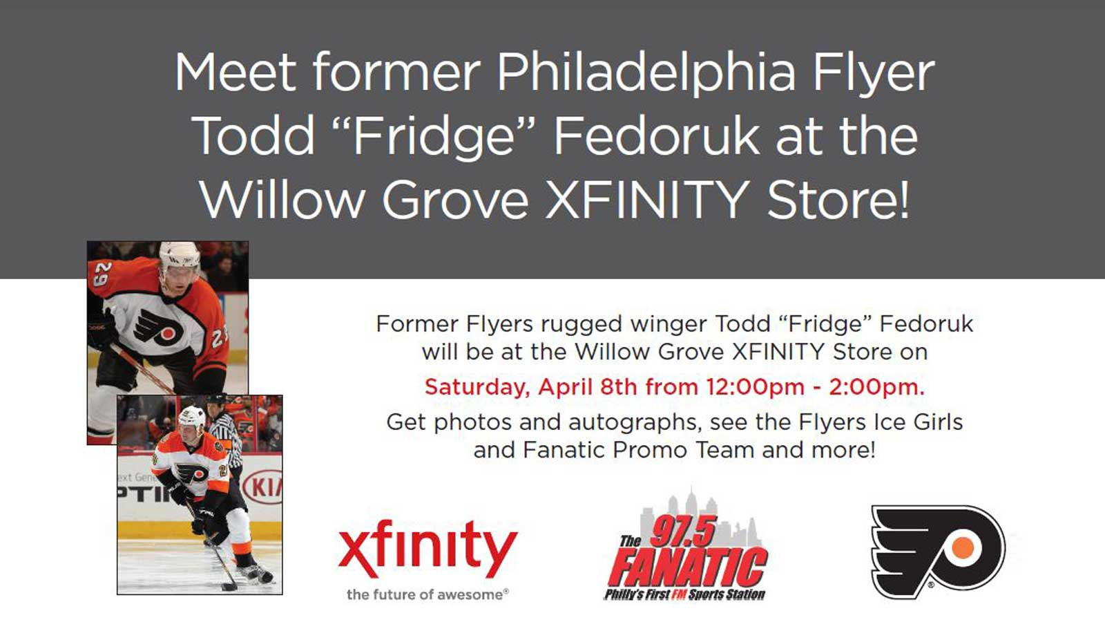 "Meet form Philadelphia Flyer Todd ""Fridge"" Fedoruk"