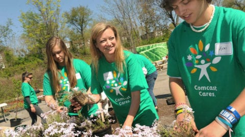 Bartram's Garden and Comcast Cares Day: Local connections, lasting relationships