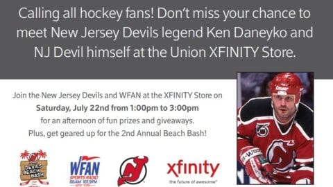 July 22: New Jersey Devils Legend Ken Daneyko at the Union NJ Xfinity Store