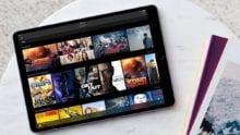 iPad with movies up