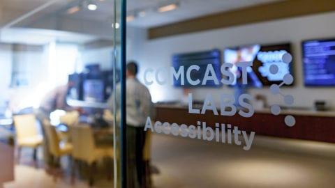 Comcast Logo on door