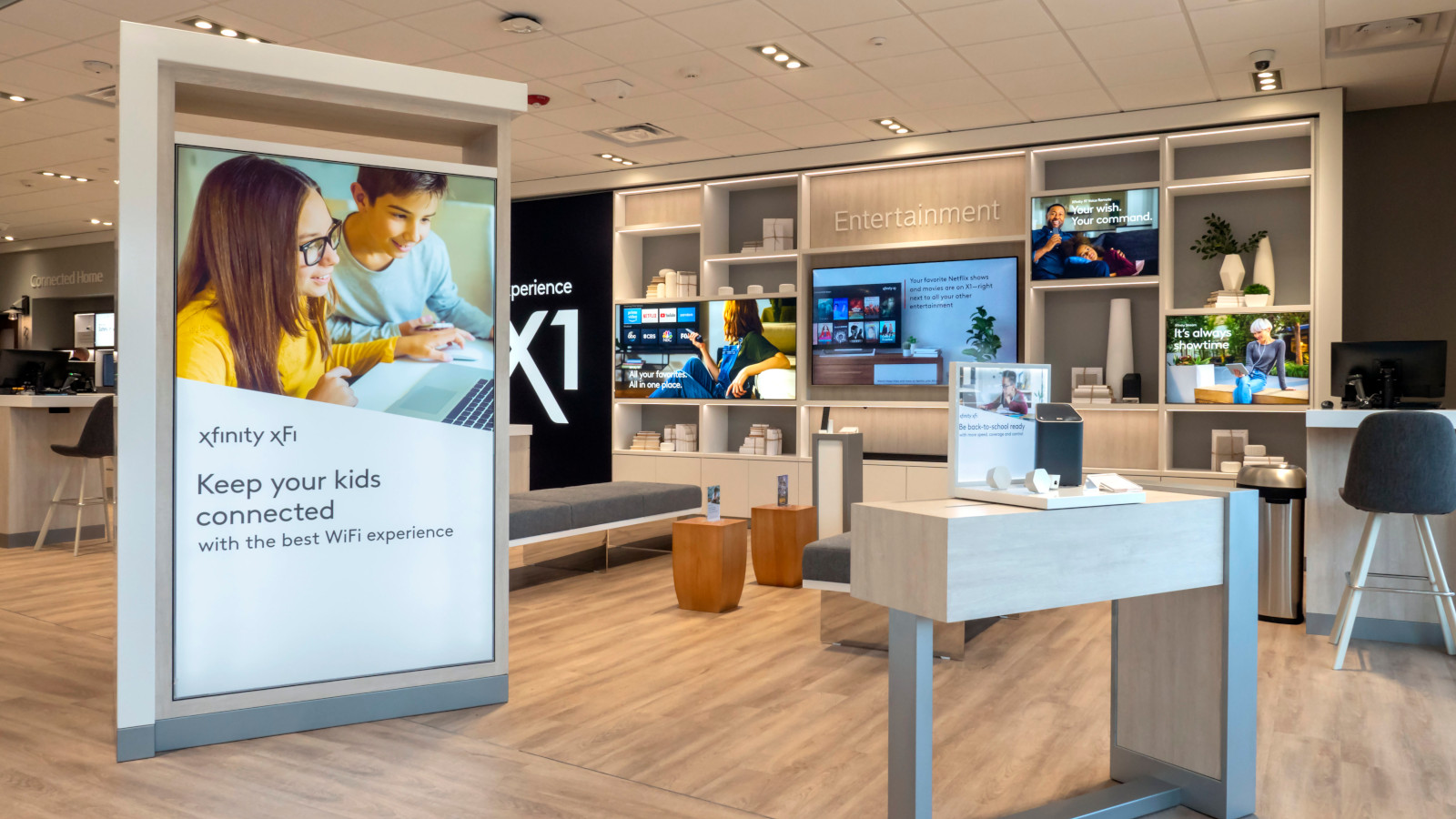 Interior of the Manahawkin Xfinity Retail Store.