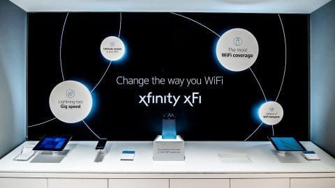 Interior of the new Langhorne Xfinity Retail Store.